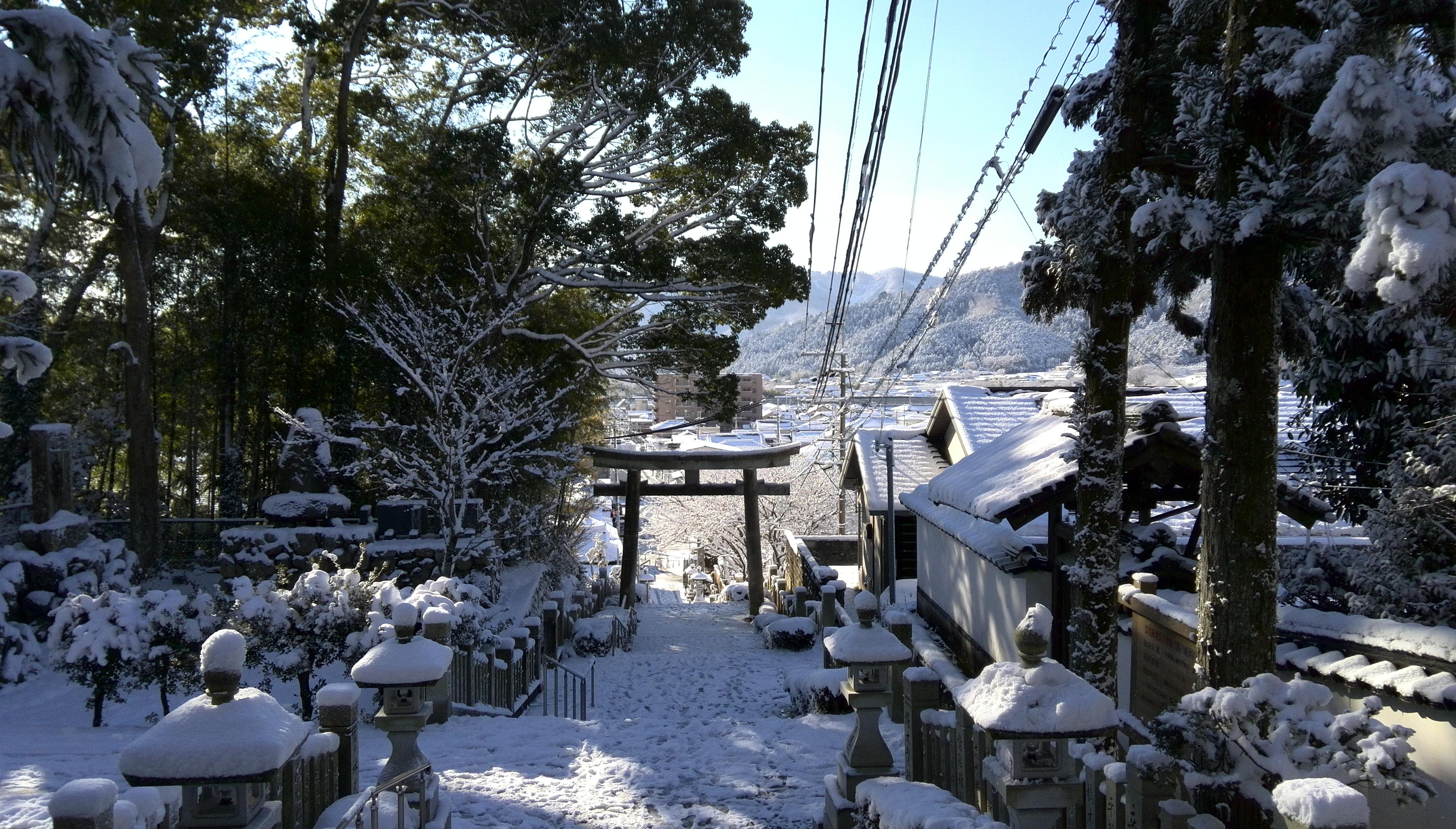 雪の山崎町