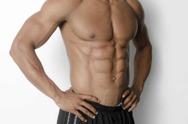 運動選手の腹筋6パック