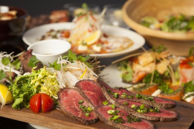 肉と野菜の写真