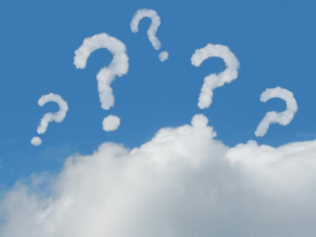 クエスチョンマークの雲